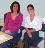 Claudia Kalkbrenner (rechts) und ihre Nachfolgerin Sigrid Kickingereder (links).