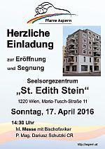 Feierliche Eröffnung und Segnung des Seelsorgezentrums St. Edith Stein