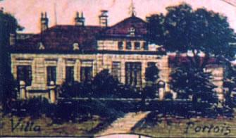 Die Villa Portois noch ohne Zubau, Ausschnitt aus einer Ansichtkarte um 1900