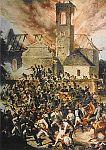 Der brennende Kirchturm