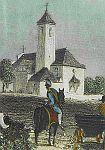 Der provisorische Kirchturm (bis 1856)