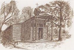 Originalstandplatz in Glanzing 1956 Zeichnung - Mag. Anton Richter.