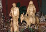 Josef und Maria auf dem Weg nach Betlehem